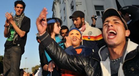 Manifestation à Rabat le 19 février 2012. AFP/ABDELHAK SENNA