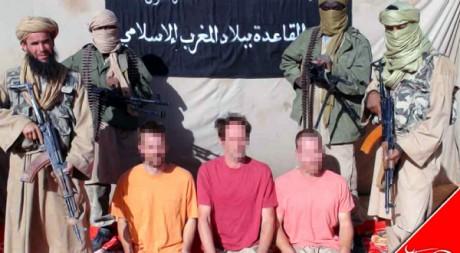 Image des trois Européens enlevés à Tombouctou le 25 novembre 2011 AFP/AGENCE NOUAKCHOTT INFORMATIONS