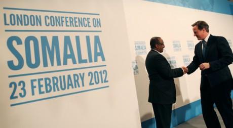 Rencontre du Premier ministre britannique David Cameron et du Premier ministre somalien Abdiweli Mohamed Ali. By Reuters