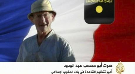 Photo de Michel Germaneau diffusée sur la chaîne Al-Jazeera le 26 juillet 2010. Reuters/Ho New