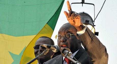 Moustapha Niasse, Place de l'Obélisque à Dakar le 5 février 2012/AFP/ SEYLLOU