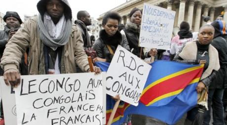 Manifestation de Congolais à Paris le 3 décembre 2011. AFP/FRANCOIS GUILLOT
