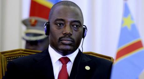 Joseph Kabila lors d'un sommet à Luanda, en Angola, le 17 août 2011. AFP PHOTO / STEPHANE DE SAKUTIN