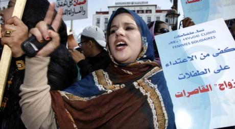 Une Marocaine participe à une manifestation pour les droits des femmes à Rabat, 20 février 2012. REUTERS/Youssef Boudlal