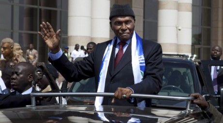 Abdoulaye Wade le 2 fvrier 2012  Dakar. REUTERS