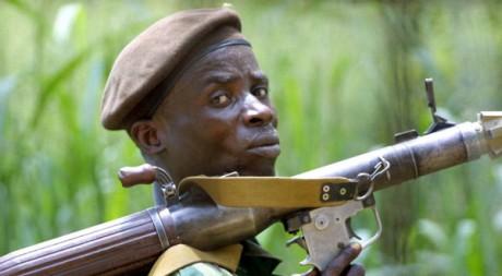 Un soldat congolais à Bangui, au sud de la Centrafrique le 8 novembre 2002. AFP/DESIREY MINKOH