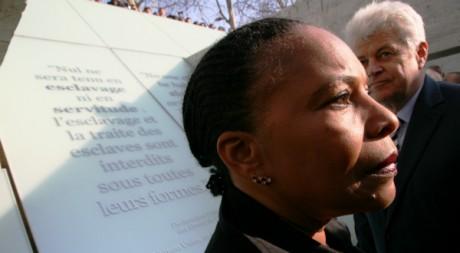 Christiane Taubira lors de l'inauguration du mémorial le 25 mars 2012.  ©Stéphanie Trouillard