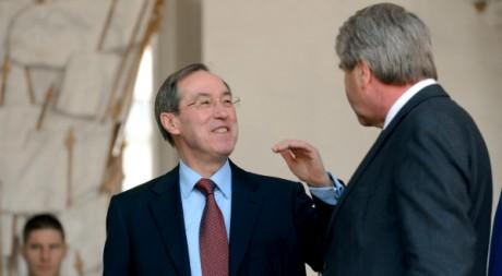 Le ministre de l'Intérieur Claude Guéant à l'Elysée le 3 avril 2012. AFP/ERIC FEFERBERG