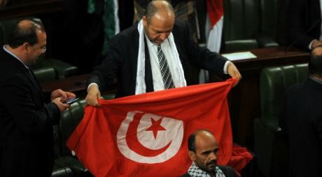 Un député tunisien à l'Assemblée constituante le 30 mars 2012. AFP/FETHI BELAID