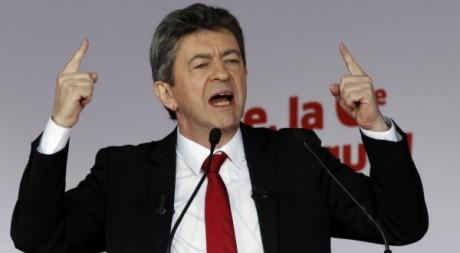 Jean-Luc Mélenchon à Marseille, le 14 avril 2012. REUTERS / Jean-Paul Pelissier