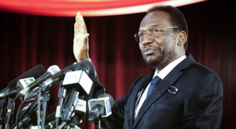 Le président Traoré prête serment le 12 avril 2010. REUTERS