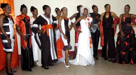 Des femmes séropositives de RDC, après un défilé de mode, mars 2012, Kinshasa, © Junior D. Kannah