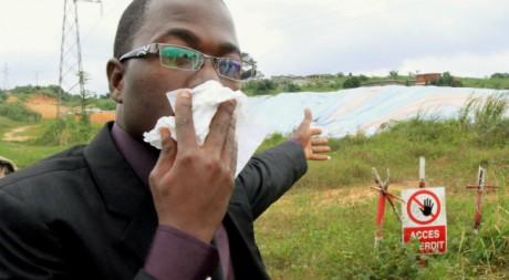 Le leader d'une association de victimes des déchets toxiques, Abidjan, août 2011 REUTERS/Thierry Gouegnon