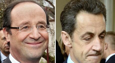 François Hollande et Nicolas Sarkozy ©  REUTERS/Jacky Naegelen