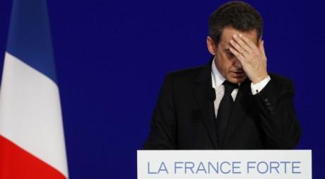 Nicolas Sarkozy le 25 avril 2012. REUTERS / Vincent Kessler