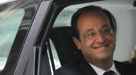 François Hollande pendant la campagne présidentielle, mai 2012. © REUTERS/Stephane Mahe