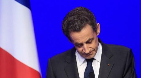 Nicolas Sarkozy lors de son discours de défaite, Paris, 6 mai 2012. REUTERS/Yves Herman