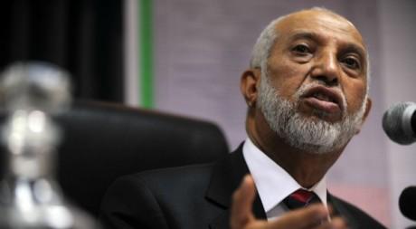 Le secrétaire général du Front de libération national (FLN)  Abdelaziz Belkhadem le 10 mars 2012. AFP/FAROUK BATICHE