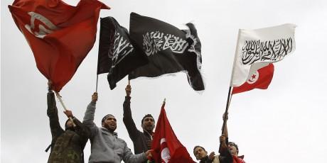 Des manifestants salafistes à Tunis en mars 2012, REUTERS/Zoubeir Souissi