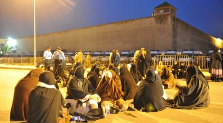 Manifestation contre les conditions de détention dans la prison de Salé, le 16 mai 2011.  ABDELHAK SENNA / AFP