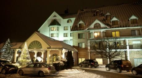 L'hôtel Chateau Vaudreuil de Montréal où résiderait B. Trabelsi depuis sont arrivée au Canada AFP PHOTO/ROGERIO BARBOSA