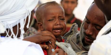 À la différence de la rougeole, la rubéole est très généralement une maladie bénigne, REUTERS/Thomas Mukoya