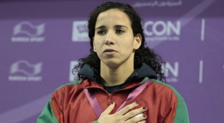 Sara El Bekri aux Jeux panarabes de Doha en dcembre 2011. Tous droits rservs