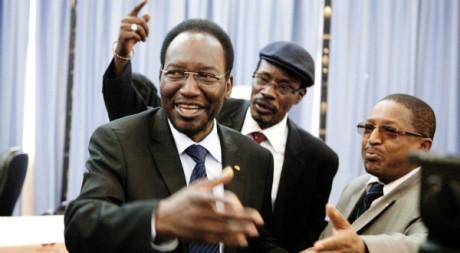 Dioncounda Traoré, peu avant son investiture, adresse des remerciements, Bamako, 11 avril 2012 REUTERS/Stringer