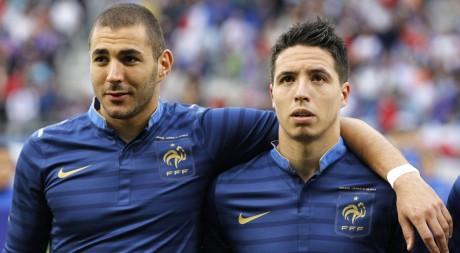 Karim Benzema et Samir Nasri évoluent en «bleu», mais sont tous deux originaires d'Algérie, REUTERS/Charles Platiau