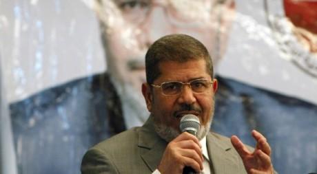Mohammed Morsi, le candidat des Frères musulmans en meeting, le 14 juin 2012. Reuters/Asmaa Waguih