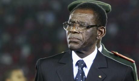 Le président équato-guinéen Teodoro Obiang, à Bata,  février 2012. © REUTERS/Amr Dalsh