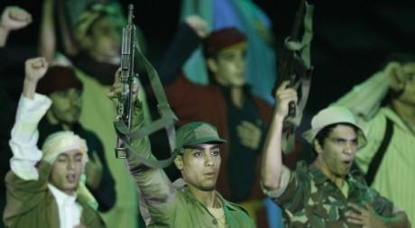 Des comédiens algériens interprétant une scène de la guerre d'indépendance, Alger, juillet 2012.©REUTERS/Louafi Larbi