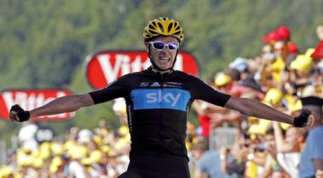 Christopher Froome vainqueur de la 7e étape du Tour de France, 7 juillet 2012. REUTERS/Stephane Mahe