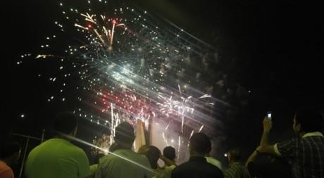 Feux d'artifice à l'occasion du cinquantenaire de l'indépendance, Alger, 5 juillet 2012 ©REUTERS/Louafi Larbi