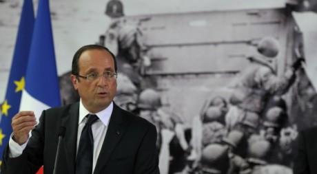 François Hollande au mémorial de la seconde guerre mondiale à Caen le 6 juin 2012. Reuters/Philippe Wojazer