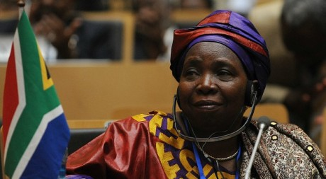 Nkosazana Dlamini-Zuma lors du sommet de l&#039;Union africaine, Addis Abeba, 15 juillet 2012  SIMON MAINA/AFP