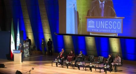 Cérémonie de remise du prix Guinée équatoriale à l'Unesco, Paris, France, 17/07/2012, REUTERS/Charles Platiau