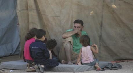 Réfugiés syriens à la frontière jordanienne. Reuters/Majed Jaber