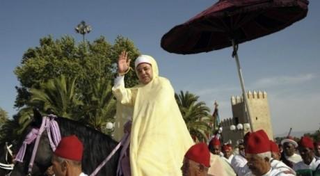 Le roi Mohammed VI du Maroc, pendant une fête du trône. © Tous droits réservés.