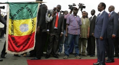Le retour du président Dioncounda Traoré à Bamako, 28 juillet 2012, REUTERS/Stringer