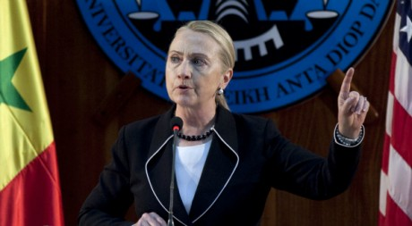 La secrétaire d'Etat Hillary Clinton, à Dakar, 1er août 2012, REUTERS/Joe Penney