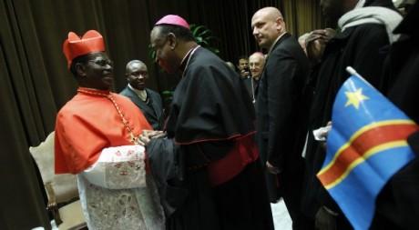 LauMgr Monsegwo, archevêque de Kinshasa, lors de sa nomination comme cardinal, Le Vatican,, 2010 © Tony Gentile / Reuters