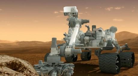 Création graphique représentant le robot Curiosity © REUTERS/NASA