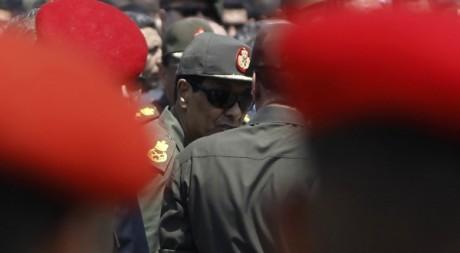 Mohammed Hussein Tantaoui aux funérailles des 16 soldats tués à la frontière égypto-israélienne. Amr Dalsh / Reuters