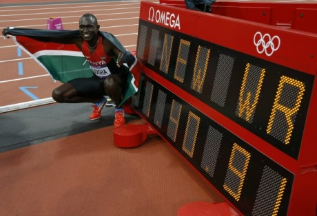 A Londres, David Rudisha a battu son record du monde sur 800 mètres en 1'40''91/ Phil Noble / Reuters
