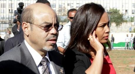 Le Premier ministre Zenawi et sa femme lors du sommet de l'Union africaine en janvier 2012 - Noor Khamis / Reuters