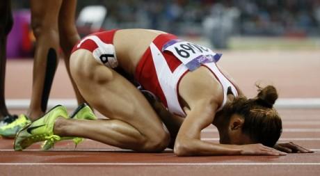 Habiba Ghribi est devenue la première femme tunisienne médaillée olympique/  REUTERS-Lucy Nicholson