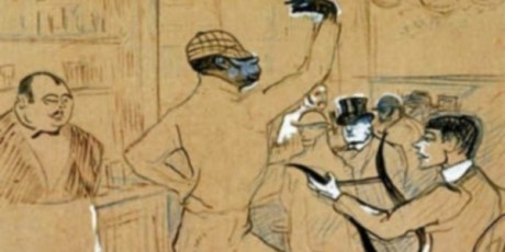 Le clown Chocolat croqué par Toulouse-Lautrec