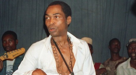 Fela Kuti  LAgos en 1988  Staff/AFP