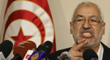 Le chef du parti Ennahda Rached Ghannouchi devant la presse, Tunis, 30 août 2012. REUTERS/Zoubeir Souissi
